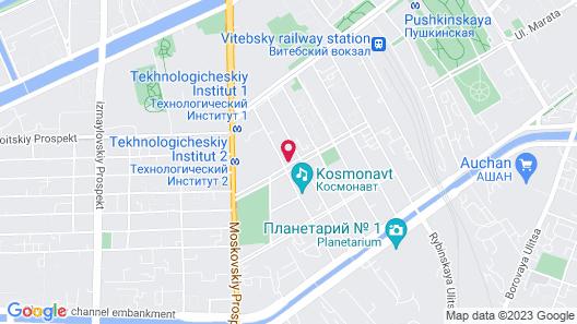 St.Petersburg Hotel Bronnitskaya 15 Map