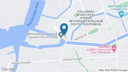 Three rivers hotel Map