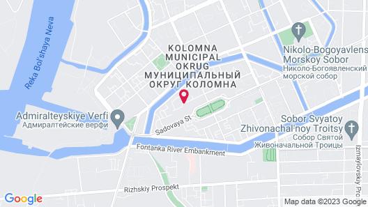 Courtyard by Marriott St. Petersburg Center Map