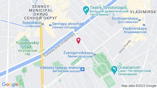 Bolshoj Kazachij Hostel Map
