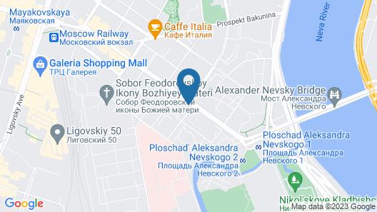Hotel Democrat on Nevskiy 147 Map