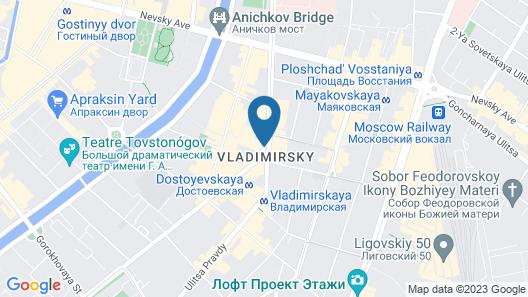 Hotel Dostoevsky Map