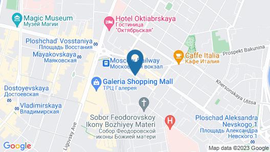 St.Pete apartments Goncharnaya Map