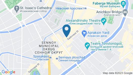 Kravt Sadovaya Hotel Map