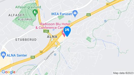 Radisson Blu Hotel Oslo Alna Map