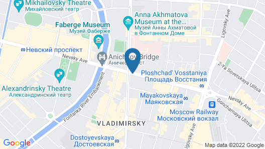 Radisson Royal Hotel, St. Petersburg Map