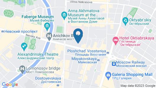 Nevsky Contour Map