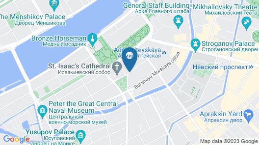 Angleterre Hotel Map