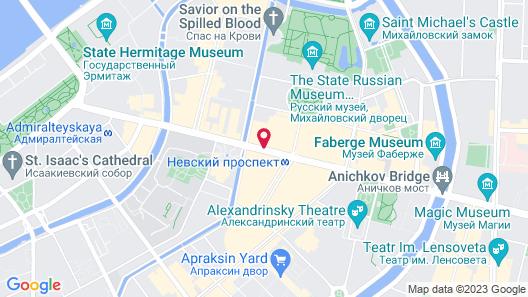 Grand Catherine Palace Hotel Map