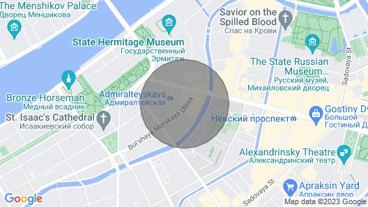 Top End 2 Bedroom, 2 Bath, Central, 250 metrin päässä Palace Square ja Hermitage Map