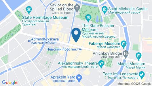 Nevsky Capsule Hotel Map