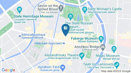 Grand Hotel Europe, A Belmond Hotel, St Petersburg Map