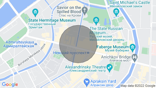 4-room apartment in the center of St. Petersburg Map
