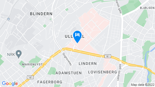 Oslo Budget Apartments - Ullevaal Map