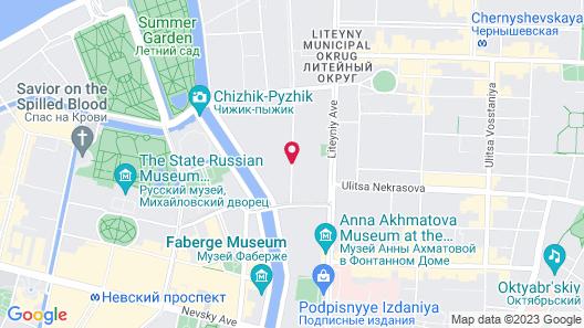 Italian Rooms and Apartments Pio on Mokhovaya Map