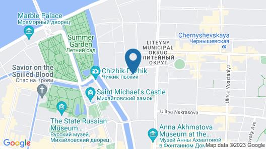 InBox Capsule Hotel Map