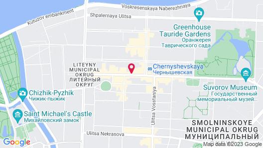 Hotel Aria on Kirochnaya Map