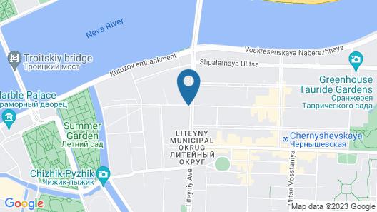 Radisson Sonya Hotel, St. Petersburg Map