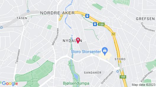 Radisson Blu Hotel Nydalen, Oslo Map