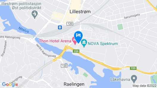 Thon Hotel Arena Map