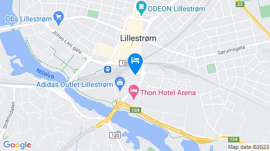 Scandic Lillestrøm Map