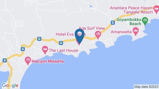 Eva Lanka Hotel Map