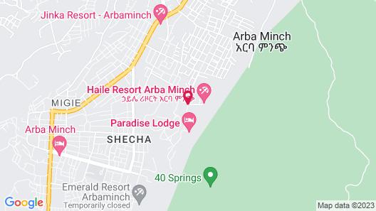 Haile Resort Arbaminch Map