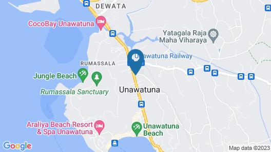 Hotel J Unawatuna Map