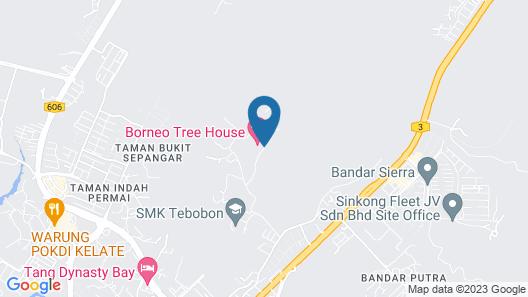 Borneo Tree House Map