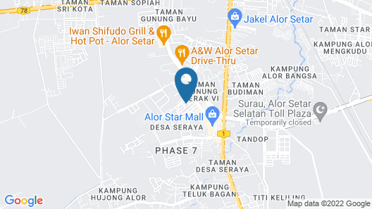 Rainbow Hotel Map