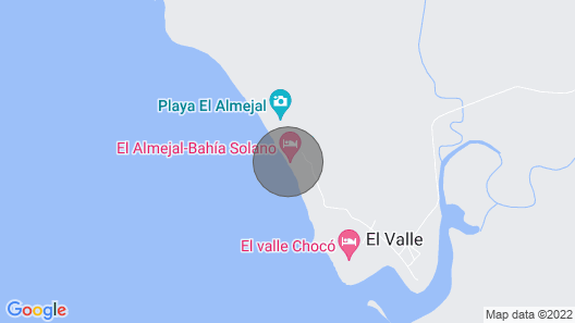 Private cabin with the best view, Playa El Almejal Map