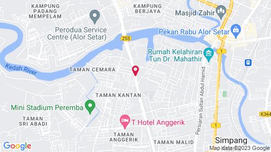 Grand Alora Hotel Map