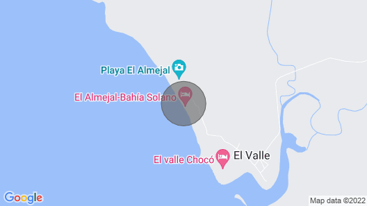 Entire Cabin With the Best View, Playa El Almejal Map