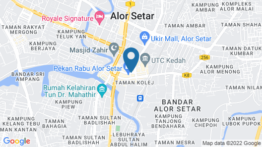 Hotel Darulaman Alor Setar Map