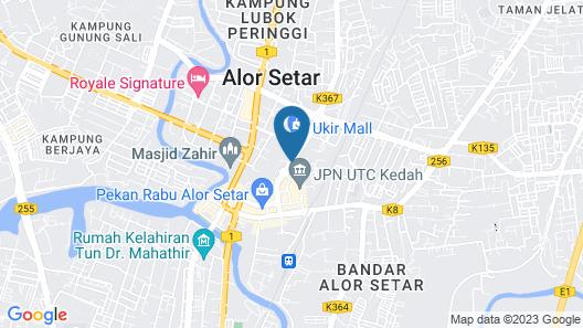 The Jerai Hotel Alor Star (Formerly Known as THE REGENCY ALOR SETAR) Map