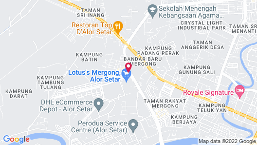 The Leverage Business Hotel Mergong Map