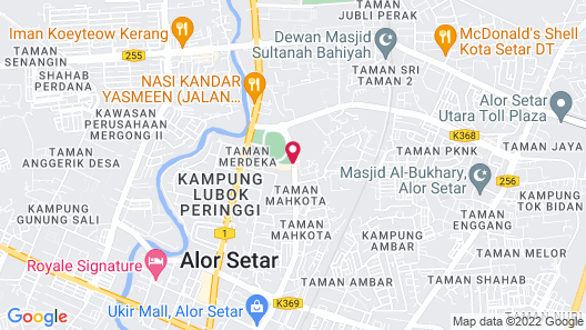 Hotel Seri Malaysia Alor Setar Map