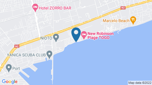 New Robinson Plage Map