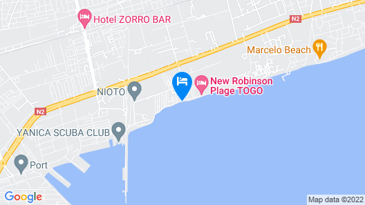 New Robinson Plage Map