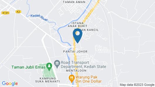 Happy Homestay Alor Setar Map