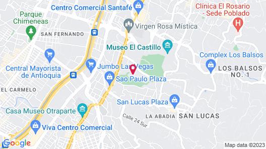 Hotel Portales Del Campestre Map