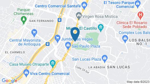 York Luxury Suites Medellín Map