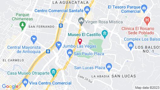 Hotel Poblado Campestre Map