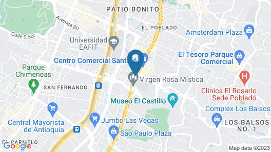 GHL Hotel Portón Medellín Map