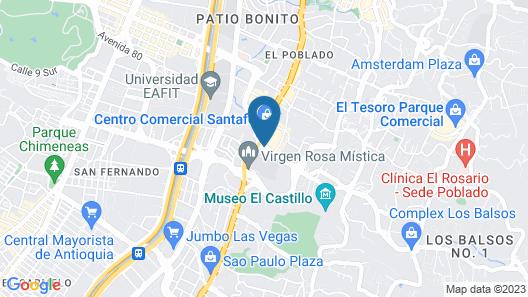 Hotel BH El Poblado Map