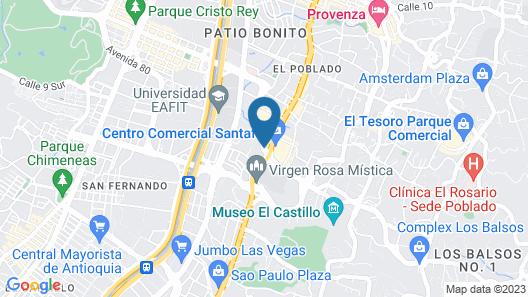 Estelar Apartamentos Medellin Map