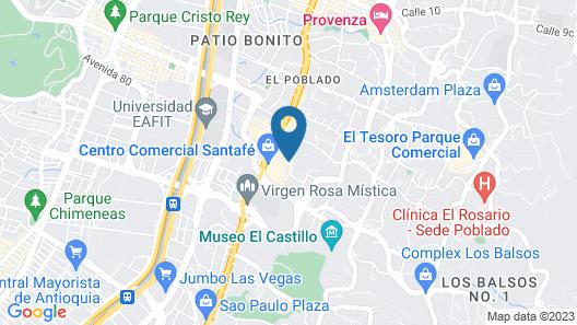 NH Collection Medellín Royal Map