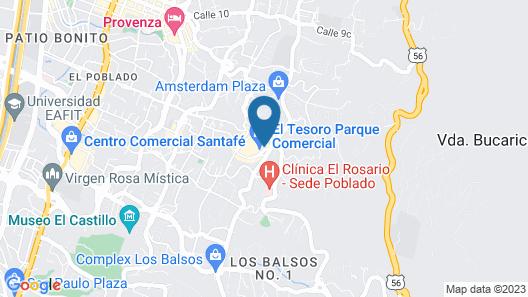 Novotel Medellín El Tesoro Map