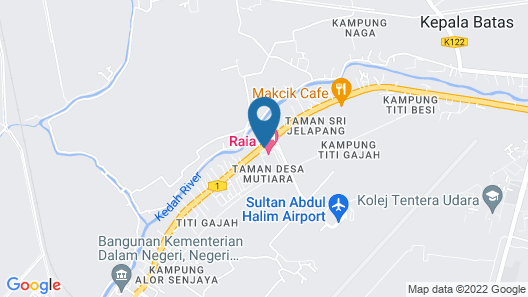 Raia Hotel & Convention Centre Alor Setar Map