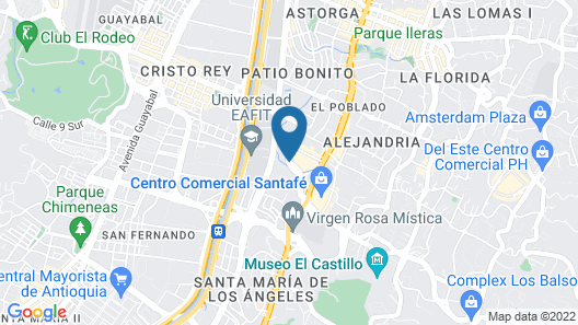 Four Points by Sheraton Medellin Map
